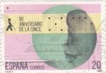 Stamps Spain -  50 aniversario de la Once (20)