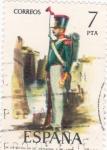 Sellos de Europa - España -  batallón de artillería a pie (20)