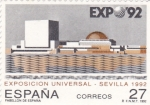 Stamps Spain -  Expo-92 pabellón de España (20)
