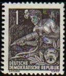 Sellos de Europa - Alemania -  ALEMANIA DDR 1953 Scott 155 Sello Nuevo Minero Picador 1 Michel 362 Allemagne Duitsland Germania Ger
