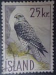 Stamps : Europe : Iceland :  Island - Ave Rapaz.