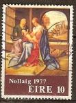 Sellos del Mundo : Europa : Irlanda : Navidad. La Sagrada Familia (Giorgione).