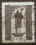 Sellos de Europa - Polonia -  Monumentos Varsovia.El rey Segismundo-III.
