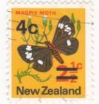 Sellos de Oceania - Nueva Zelanda -  mariposa