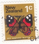 Stamps New Zealand -  mariposa