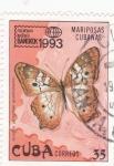 Stamps Cuba -  mariposa