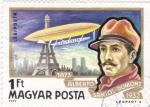 Sellos de Europa - Hungría -  Alberto Santos-Dumont- pionero de la aviación