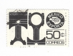 Stamps of the world : Mexico :  México exporta: Partes automotrices