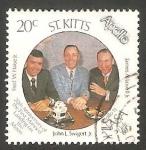 Stamps America - San Cristóbal Island -  683 - 20 anivº del primer hombre en la Luna