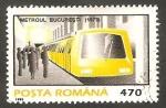 Stamps Romania -  4247 - Metro de Bucarest