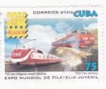 Stamps Cuba -  tren integrado diessel