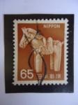 Stamps : Asia : Japan :  Caballito de madera.