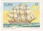 Sellos de America - Cuba -  velero cubano San Carlos