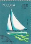 Sellos de Europa - Polonia -  velero moderno