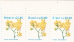Stamps : America : Brazil :  flores- Cassia macranthera