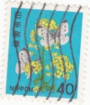 Stamps : Asia : Japan :  flores