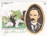Stamps Cuba -  centenario de la caída en combate de José Martí