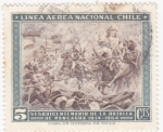 Sellos de America - Chile -  batalla de Rancagua