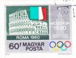 Sellos de Europa - Hungría -  Olimpiada de Moscú-1980