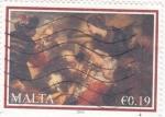 Stamps Malta -  retrato navideño