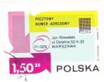 Stamps Poland -  codigo postal en Polonia