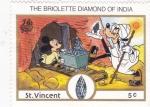 Stamps Saint Vincent and the Grenadines -  Mickey y Goofy en la India