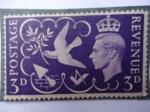 Sellos de Europa - Reino Unido -  Jorge V - postage & Revenue.