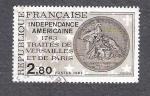 Sellos de Europa - Francia -  Independencia Americana, Tratados de Versalles y de Paris