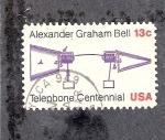 Stamps United States -  Centenario de la invención del teléfono