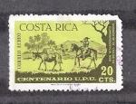 Sellos de America - Costa Rica -  Centenario de la Unión Postal Universal