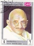 Sellos de Asia - Yemen -  Mahatma Gandhi-Personajes famosos de la historia