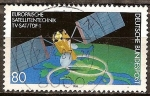 Sellos de Europa - Alemania -  La tecnología satelital europea, TV-SAT / TDF-1,