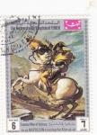 Sellos de Asia - Yemen -  Napoleón cruzando los Alpes