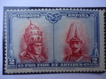 Stamps of the world : Spain :  Pío XI Alfonso XIII - Pro Fide Et Artibus.