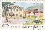Sellos de Asia - Corea del norte -  casas típicas coreanas