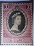 Stamps Malaysia -  Coronación de Elizabeth II. -Malaya-Kedah)