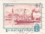 Stamps Hungary -  panorámica de Buda 1972