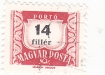Stamps Hungary -  cifras