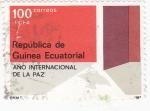 Stamps Equatorial Guinea -  año internacionl de la Paz