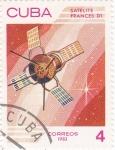 Stamps Cuba -  aeronáutica- satélite frances D1