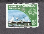Sellos de America - Rep Dominicana -  Centenario de la Unión Postal Universal
