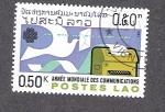 Sellos de Asia - Laos -  Año Mundial de las Comunicaciones