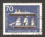 Stamps Germany -  345 - Exposición internacional del transporte en Munich, barcos