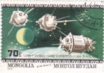 Stamps Mongolia -  aeronáutica- Luna-1, Luna-2,Luna-3