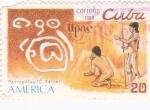 Stamps Cuba -  patroglifos- UPAE