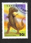 Stamps Tanzania -  Animales Prehistoricos