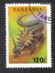 Sellos de Africa - Tanzania -  Animales Prehistoricos