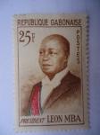 Sellos de Africa - Gabón -  Gabon Africa - President, Gabriel Leon Mba.