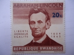 Sellos de Africa - Rwanda -  Abraham Lincoln.