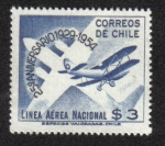 Stamps Chile -  Early Plane and Stylized Modern Version